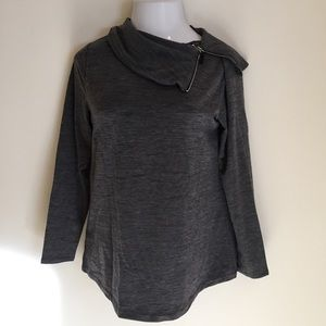 Weekends by Chico's Women's Pullover Top Gray